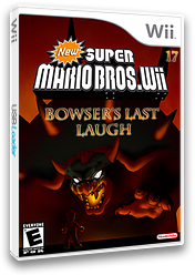 New Super Mario Bros. Wii 17 Bowser's Last Laugh CUSTOM cover (SBSE01)