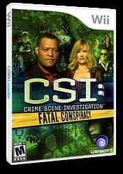 CSI: Fatal Conspiracy Wii cover (SCIE41)