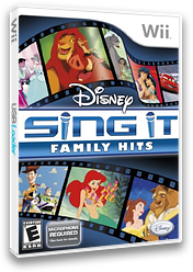 Disney Sing It: Family Hits Wii cover (SDFE4Q)
