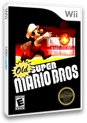 Old Super Mario Bros. Wii CUSTOM cover (SMNE09)
