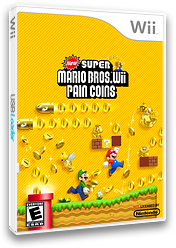 New Super Mario Bros. Wii: Pain Coins CUSTOM cover (SMNE14)