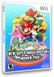 New Super Mario Bros. Wii - MSMKW Pack CUSTOM cover (SMNE49)