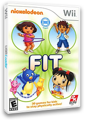 Nickelodeon Fit Wii cover (SN9E54)