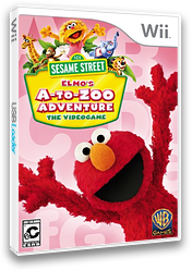 Sesame Street: Elmo's A-to-Zoo Adventure Wii cover (SS3EWR)