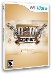 Big Town Shoot Out WiiWare cover (W9BE)