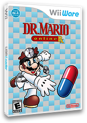 Dr. Mario Online Rx WiiWare cover (WDME)