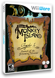 Tales of Monkey Island: Chapter 1 - Launch of the Screaming Narwhal WiiWare cover (WILE)