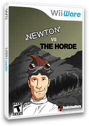 Newton Vs The Horde WiiWare cover (WNSE)