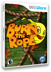 Burn the Rope WiiWare cover (WRPE)