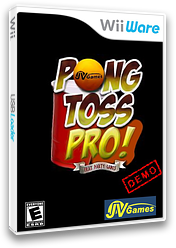 Pong Toss Pro Demo WiiWare cover (XIRE)