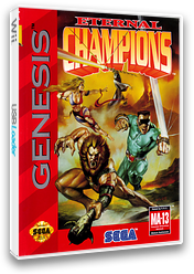 Eternal Champions VC-MD cover (MBZE)