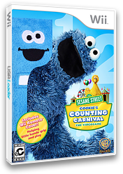 Sesame Street: Cookie's Counting Carnival Wii cover (SS4EWR)