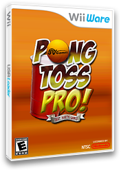 Pong Toss Pro - Frat Party Games WiiWare cover (WPWE)