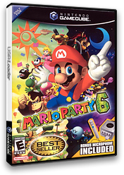 Mario Party 6 GameCube cover (GP6E01)