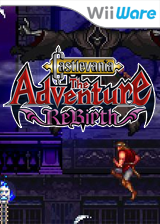 Castlevania The Adventure ReBirth WiiWare cover (WD9E)