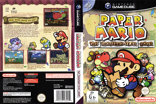 Paper Mario: The Thousand-Year Door GameCube cover (G8MP01)