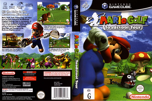 Mario Golf: Toadstool Tour GameCube cover (GFTP01)