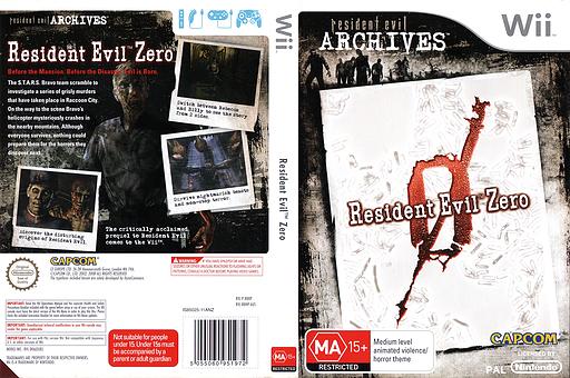 Resident Evil Archives: Resident Evil Zero Wii cover (RBHP08)