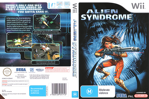 Alien Syndrome Wii cover (RLSP8P)