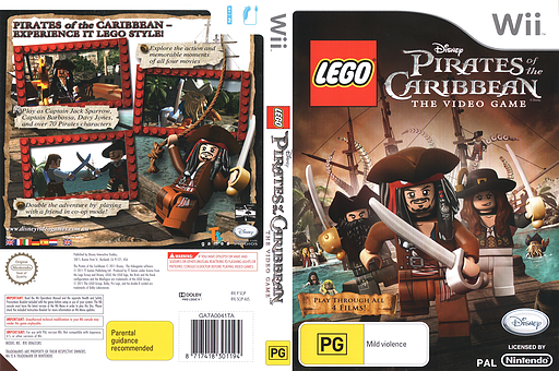 LEGO Pirates of the Caribbean:The Video Game Wii cover (SCJP4Q)