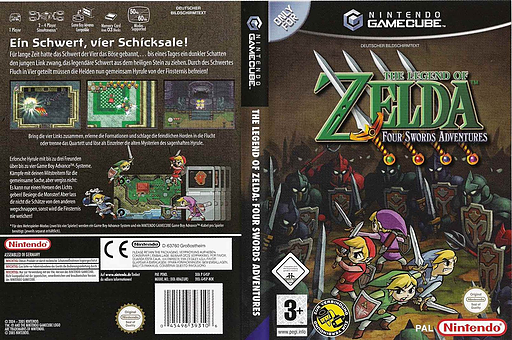 The Legend of Zelda: Four Swords Adventures GameCube cover (G4SP01)