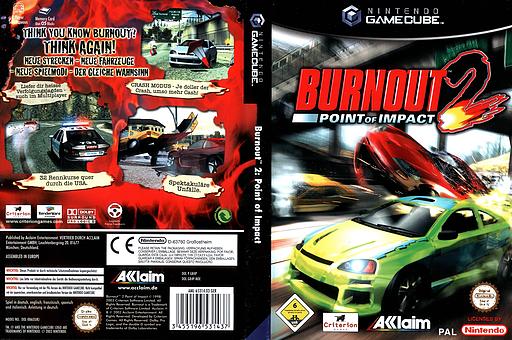 Burnout 2: Point of Impact GameCube cover (GB4P51)