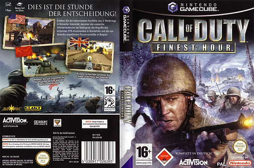 Call of Duty: Finest Hour GameCube cover (GCOD52)