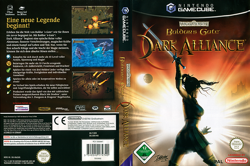 Baldur's Gate Dark Alliance GameCube cover (GDED71)