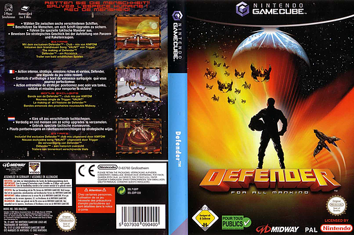 Defender: For All Mankind GameCube cover (GDFP5D)