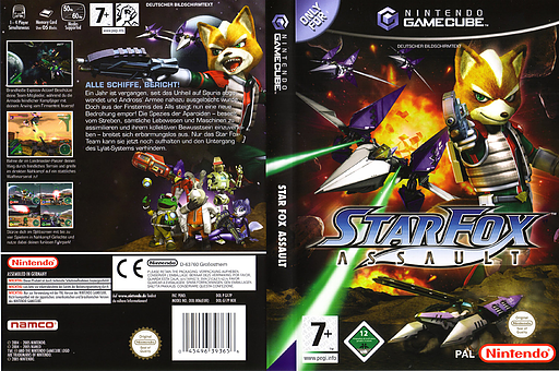 Star Fox Assault GameCube cover (GF7P01)
