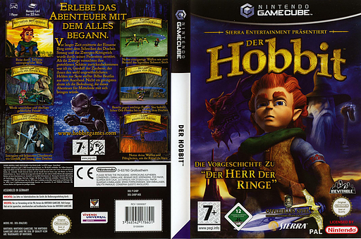 Der Hobbit GameCube cover (GHBP7D)