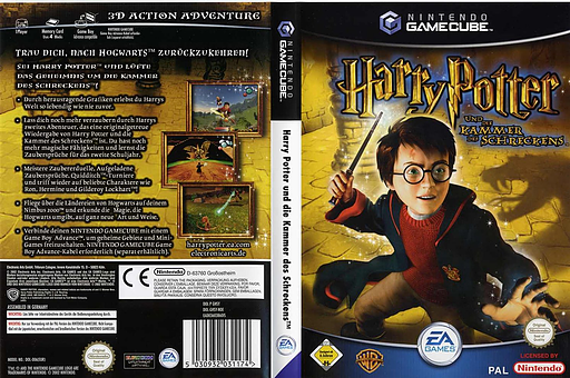 Harry Potter and the Chamber of Secrets GameCube cover (GHSX69)