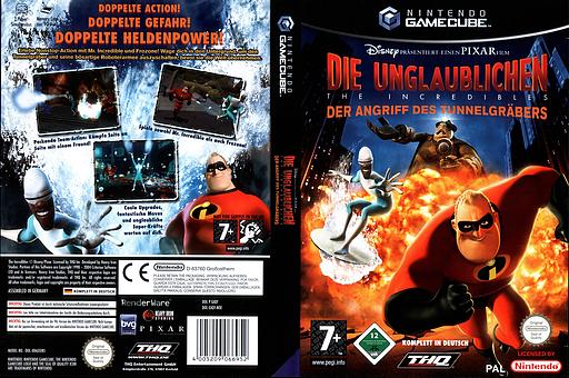Die Unglaublichen:Der Angriff Des Tunnelgräbers GameCube cover (GIQY78)