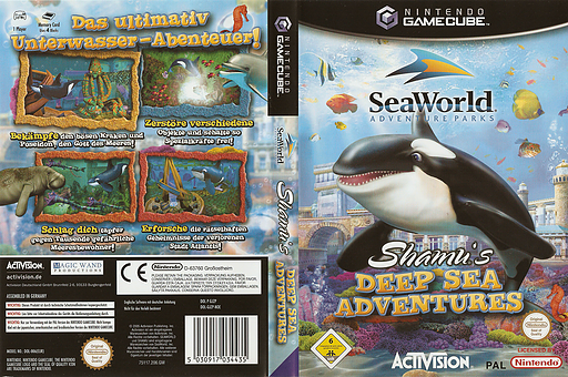 SeaWorld Adventure Parks: Shamu's Deep Sea Adventures GameCube cover (GJZP52)