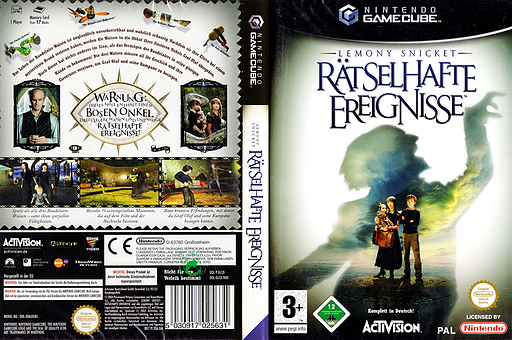 Lemony Snicket: Rätselhafte Ereignisse GameCube cover (GLCD52)