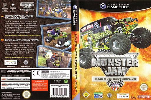 Monster Jam: Maximum Destruction GameCube cover (GMJP41)