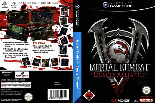 Mortal Kombat: Deadly Alliance GameCube cover (GMKD5D)