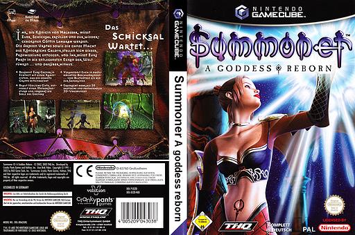 Summoner: A Goddess Reborn GameCube cover (GS2D78)