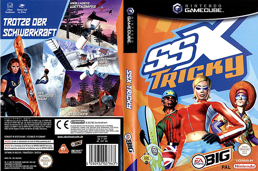 SSX Tricky GameCube cover (GSTP69)