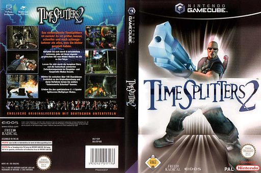 TimeSplitters 2 GameCube cover (GTSP4F)