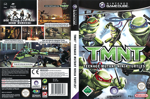 TMNT GameCube cover (GYRP41)