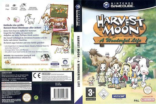 Harvest Moon: A Wonderful Life GameCube cover (GYWDE9)