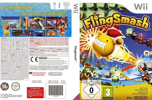 FlingSmash Wii cover (R22P01)