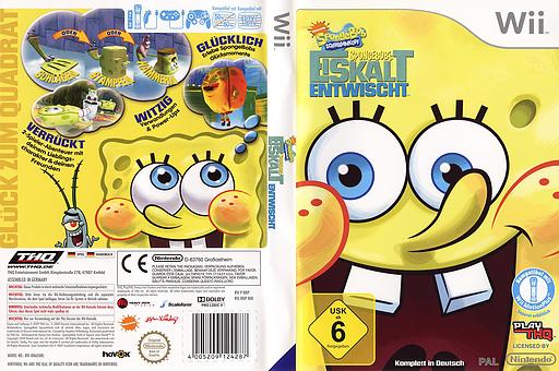 SpongeBob's Eiskalt Entwischt Wii cover (R8IP78)