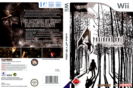Resident Evil 4: Wii Edition Wii cover (RB4X08)