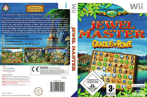Jewel Master: Cradle of Rome Wii cover (RJ4PRM)