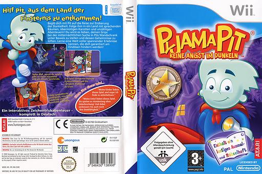 Pyjama Pit: Keine Angst im Dunkeln Wii cover (RJQP70)