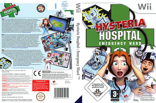 Hysteria Hospital: Emergency Ward Wii cover (RJVPGN)