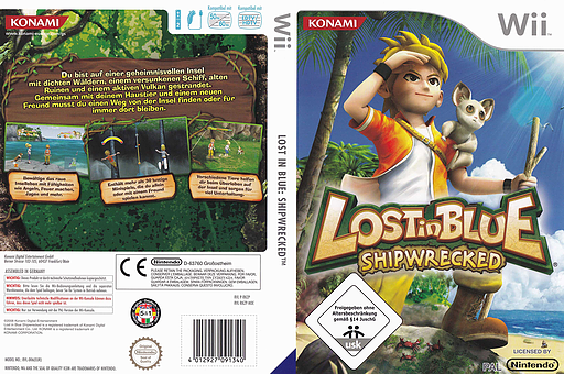Lost in Blue: Shipwrecked Wii cover (RKZPA4)