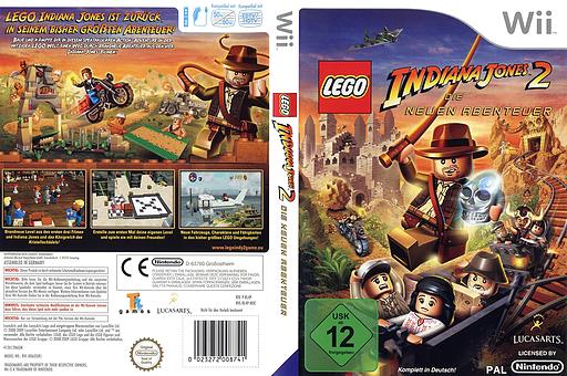 LEGO Indiana Jones 2: Die neuen Abenteuer Wii cover (RL4P64)